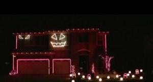 Michael Jackson's Thriller Halloween Light Show (Video) | Third Monk