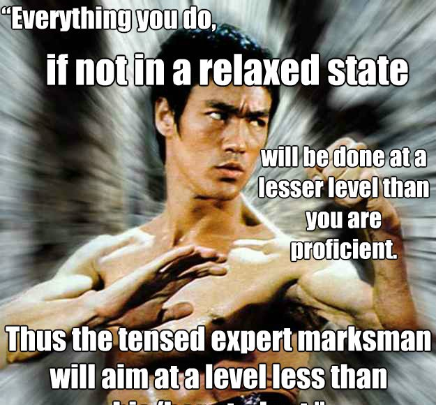 Bruce Lee - Relax, the Tensed Expert Marksman Aims At a Level Less Than His Student | Third Monk image 2