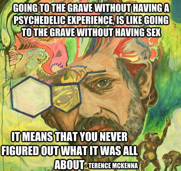 Life Without a Psychedelic Experience is Like Dying a Virgin - Terence Mckenna | Third Monk