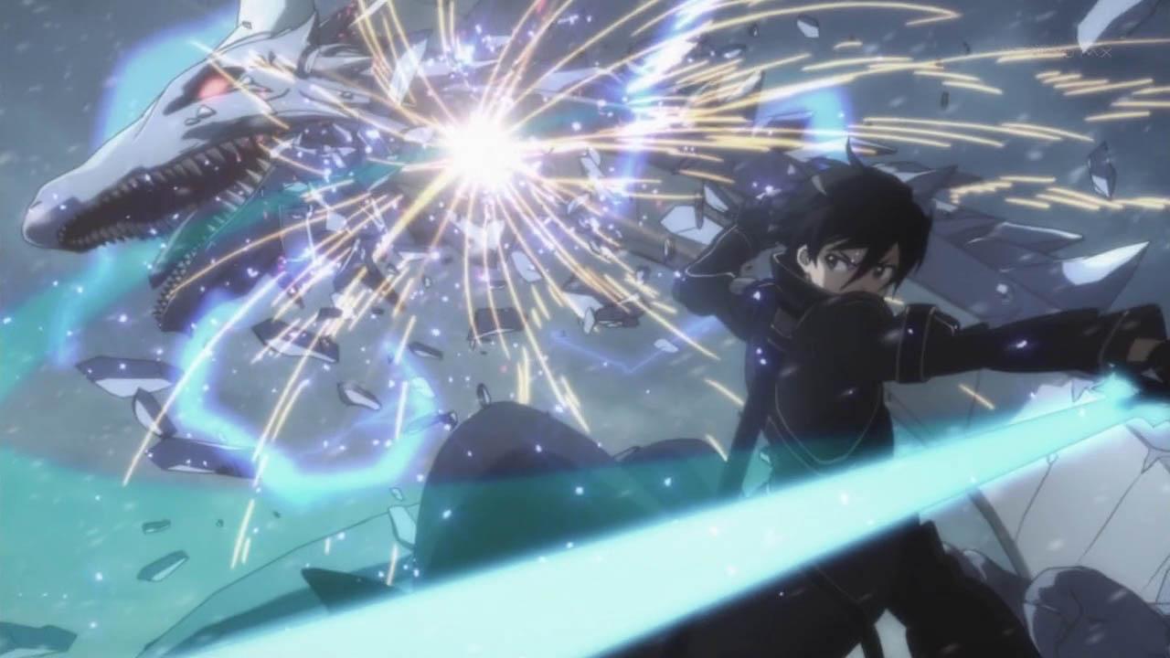 Kirito Slashes Dragon