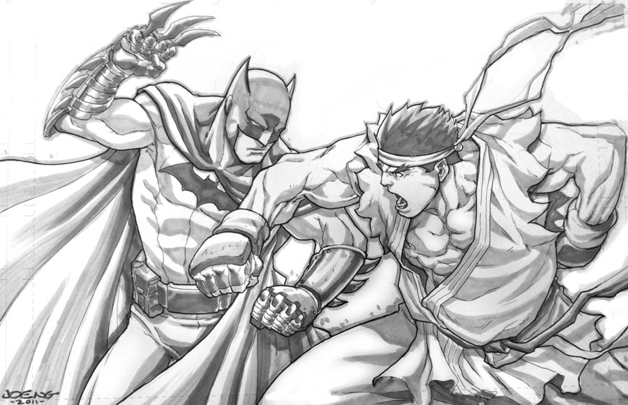 batman_vs_evil_ryu_commish_by_ngboy-d41geba