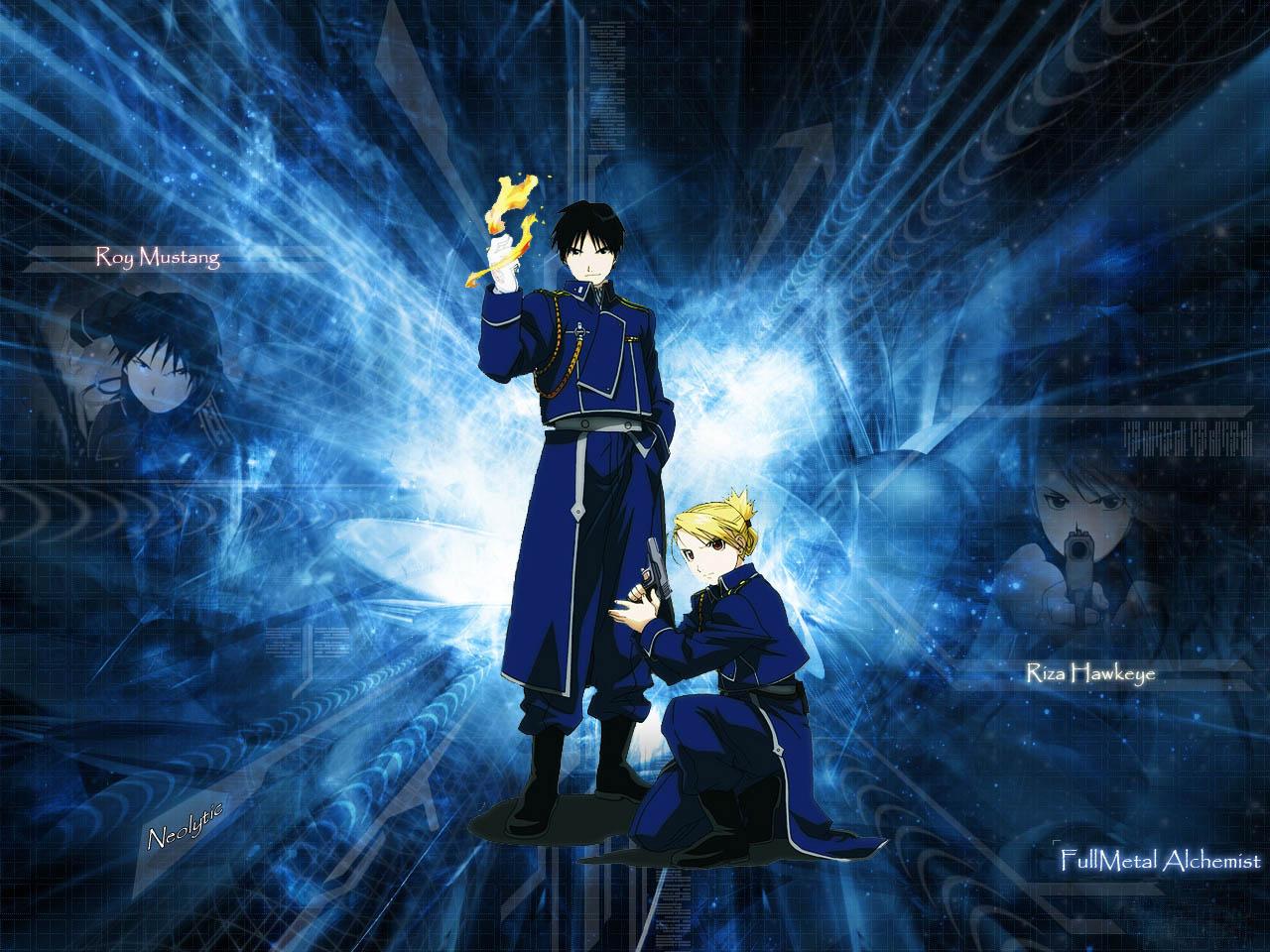 Fullmetal Alchemist Brotherhood - Mustang and Hawkeye