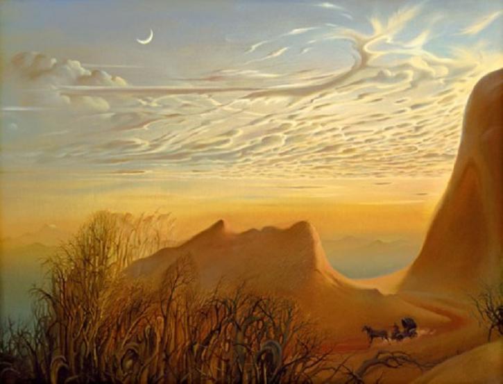 Vladamir-Kush-Surreal-Painting-Art-Gallery-Anticipation-Of-Night-Sky