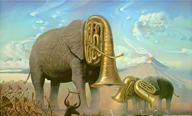 Surreal Reality Distortion Paintings, Vladimir Kush Art ...