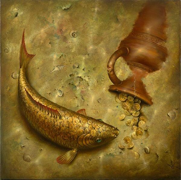 Vladamir-Kush-Surreal-Painting-Art-Gallery-Fish-Coins