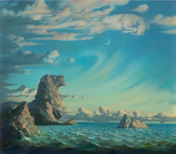Vladamir-Kush-Surreal-Painting-Art-Gallery-Lion