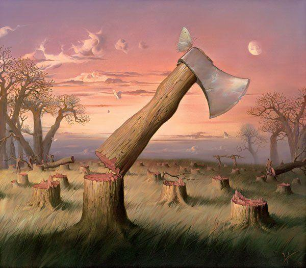 Vladamir-Kush-Surreal-Painting-Art-Gallery-Redwood-Cutting