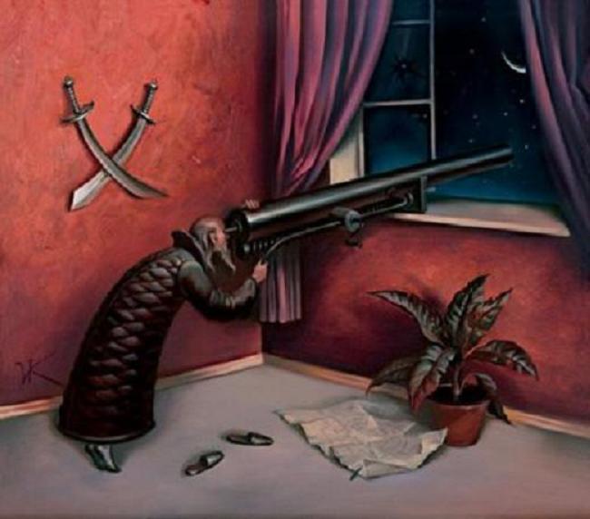 Vladamir-Kush-Surreal-Painting-Art-Gallery-Telescope