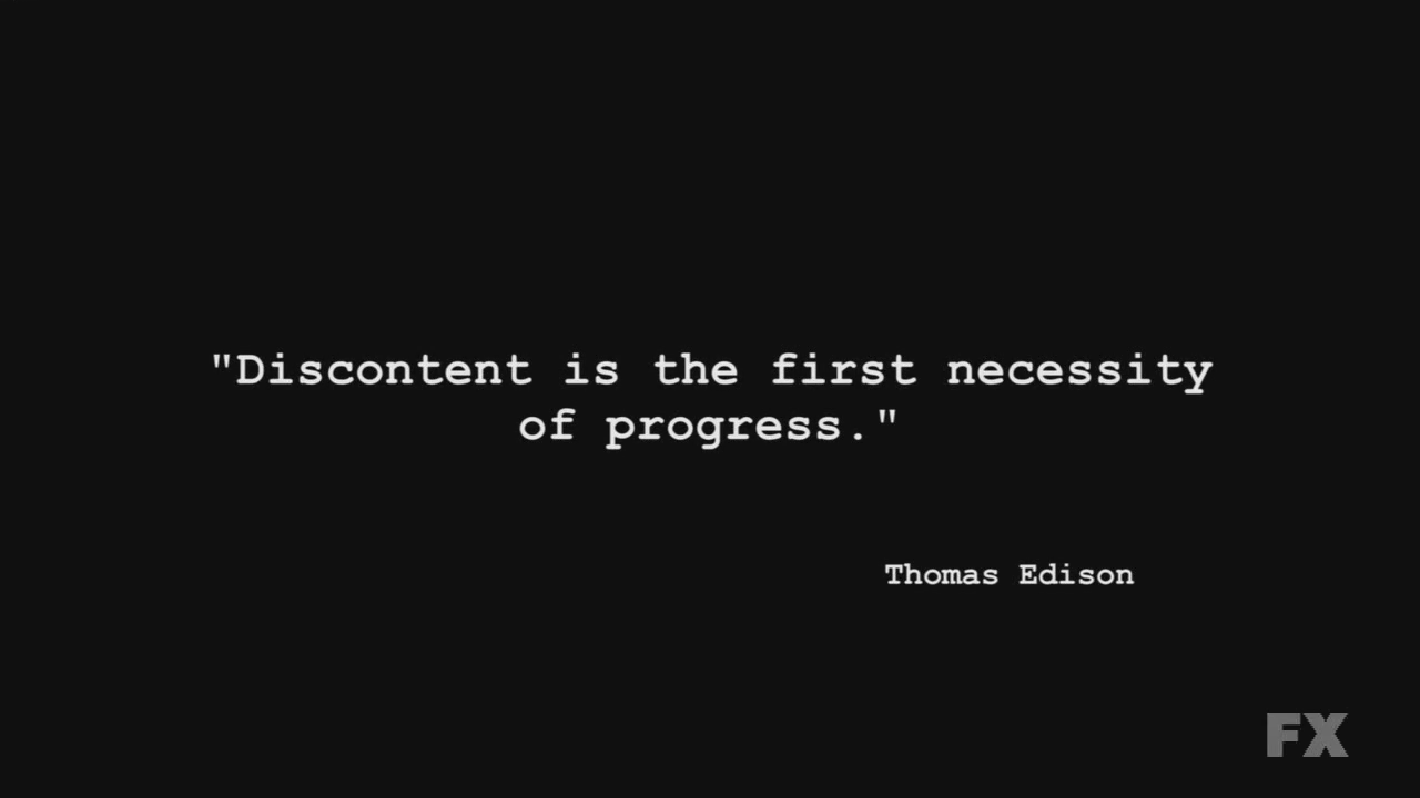 discontent is the first necessity of One cannot view the dismal outcomes of this disease without being discontent editorial: 'discontent is the first 'discontent is the first necessity.