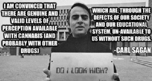 A Society Without Cannabis Lacks Unfiltered Levels of Perception - Carl Sagan | Third Monk