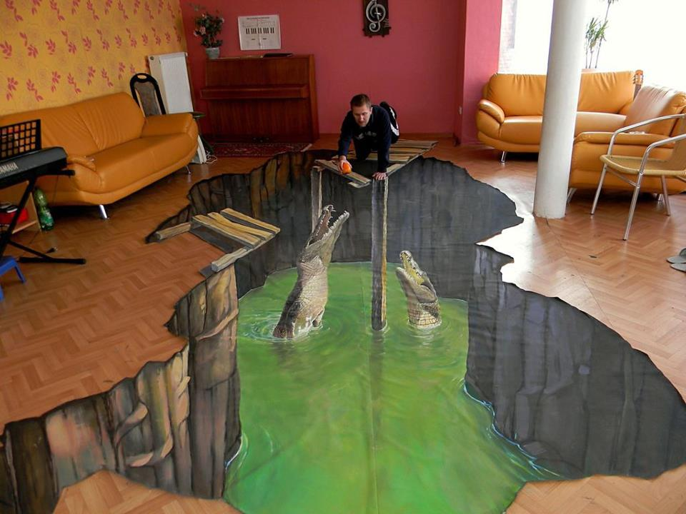 3D Painted Living Room