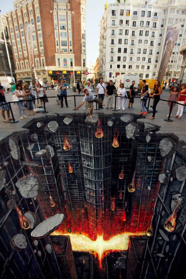 Batman Rising 3d Street Art