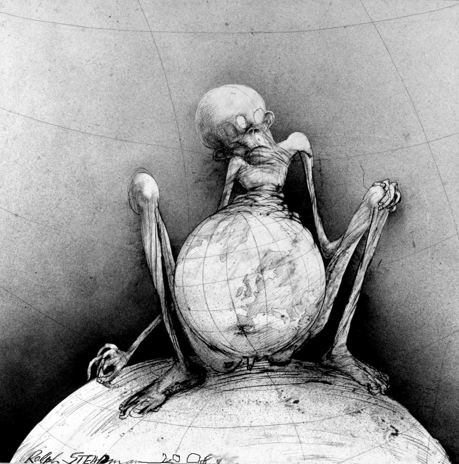 ralph-steadman-art-gallery-earth-belly