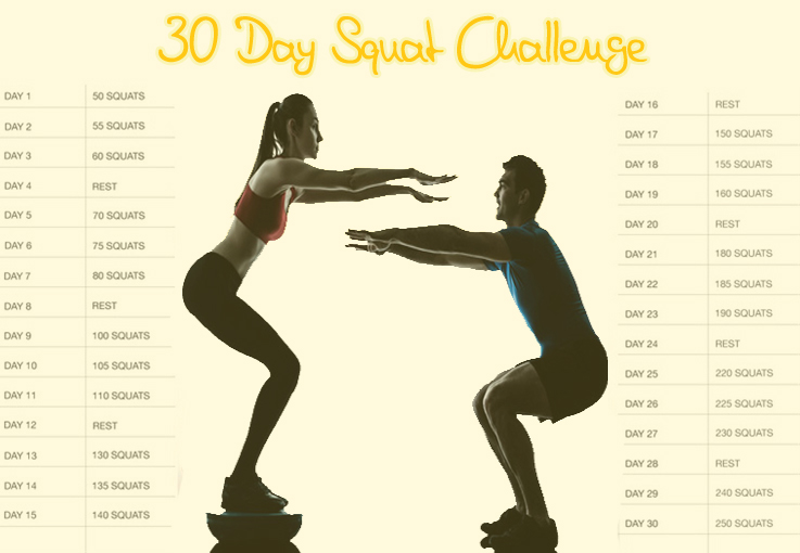 Abs and Squats 30 Day Workout Routine Challenge (Guide) | Third Monk image 1