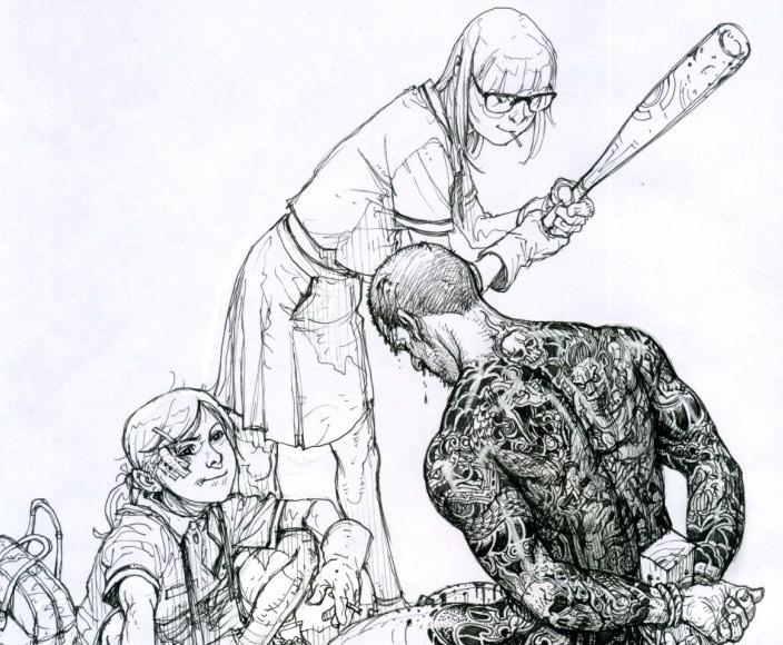 Sketch Master Ilustrator, Kim Jung Gi Art Gallery | Third Monk image 11