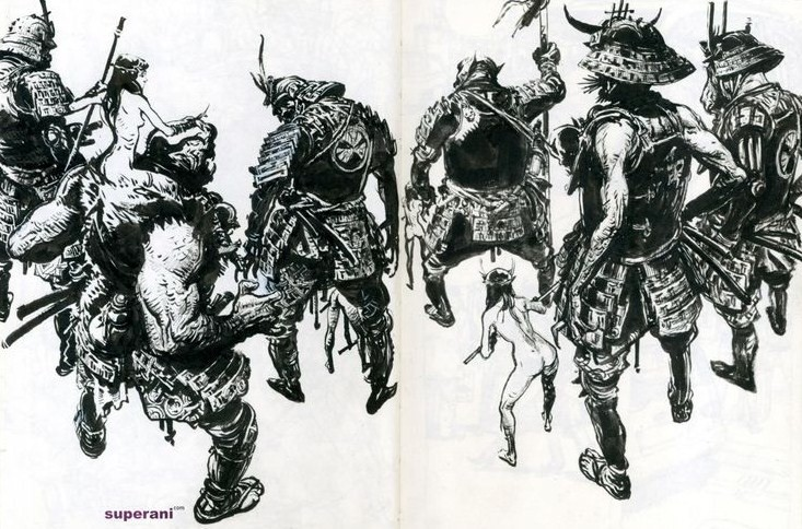 Kim Jung-Gi-sketch-art-photo-gallery-warriors