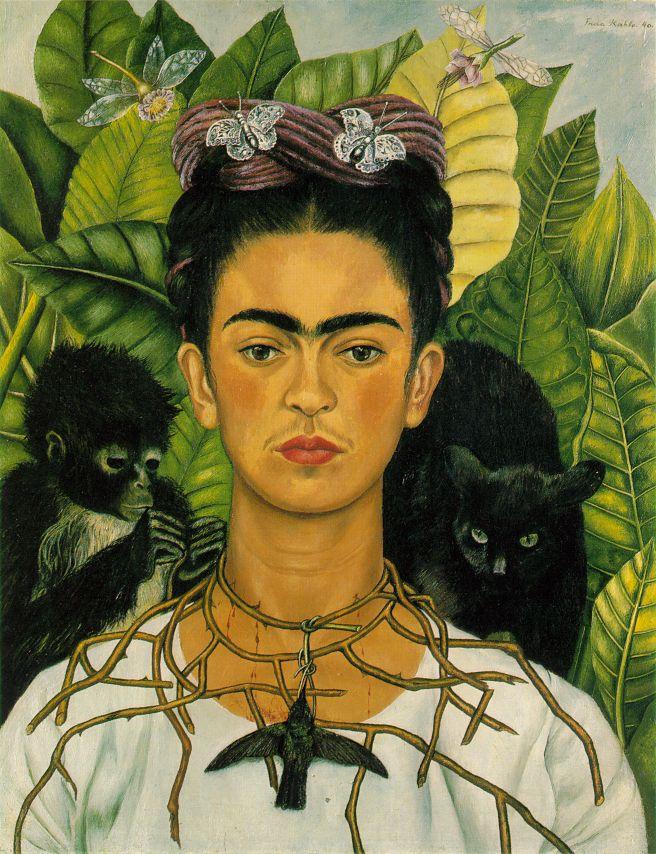 Self-Portrait 1940 Oil on Canvas - Frida Kahlo