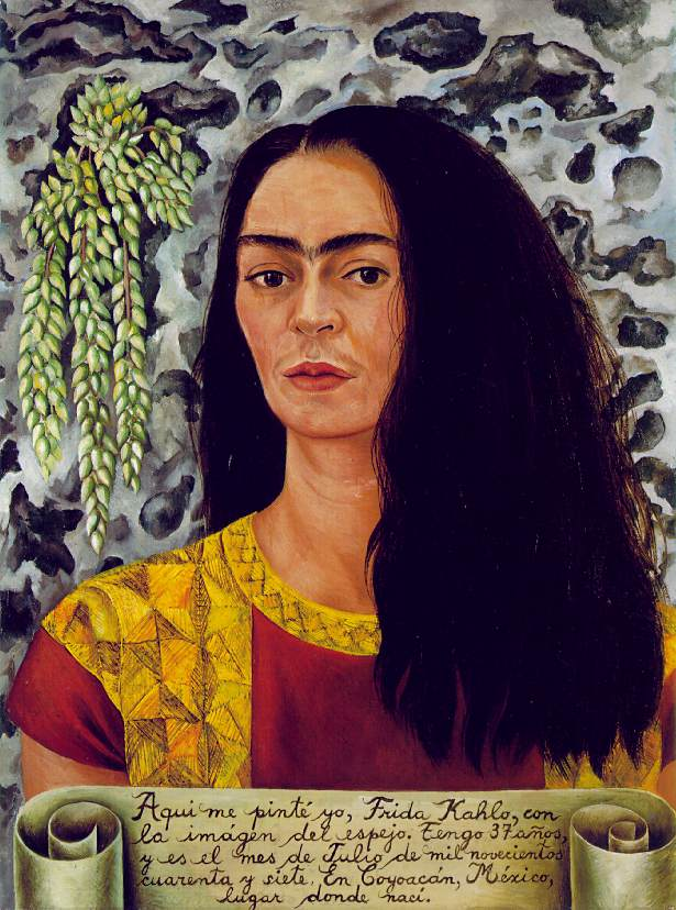 Self-Portrait with Loose Hair 1947 Oil on Masonite