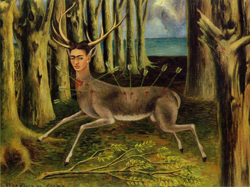 The Little Deer 1946 Oil on Masonite