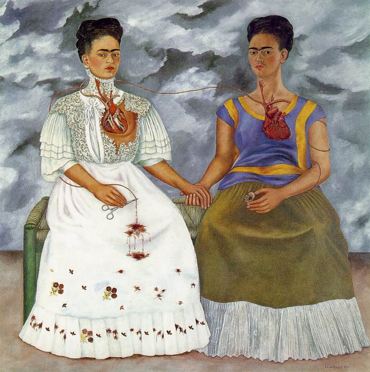 The Two Fridas 1939 Oil on canvas