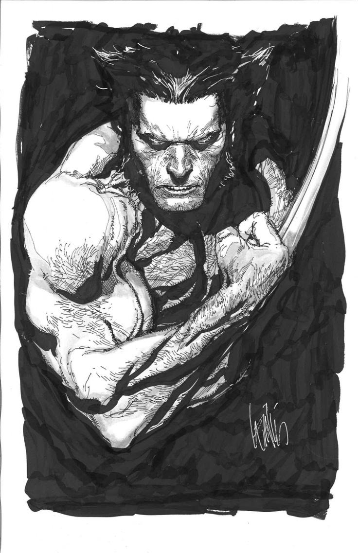 Leinil-Yu-comic-art-gallery-Wolverine-bw
