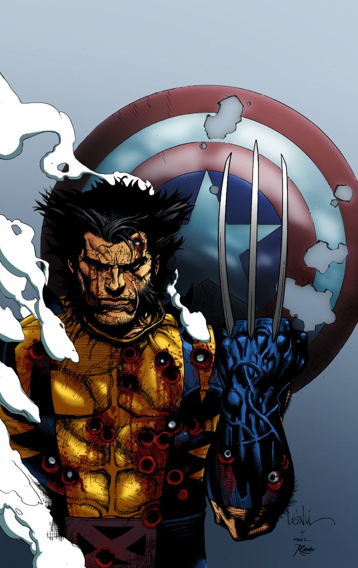 Leinil-Yu-comic-art-gallery-Wolverine-captain-america