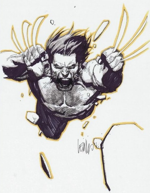 Leinil-Yu-comic-art-gallery-Wolverine-charge