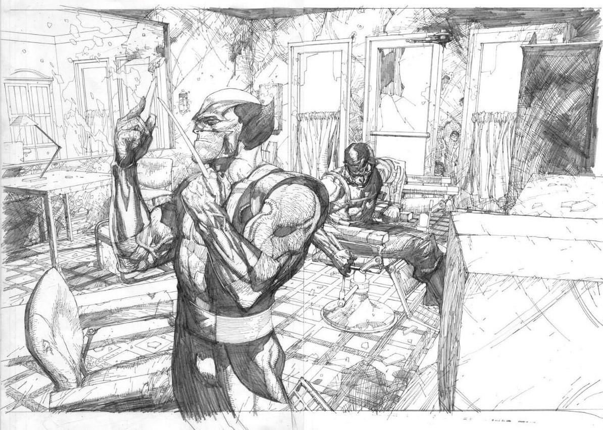 Leinil-Yu-comic-art-gallery-Wolverine-pencil