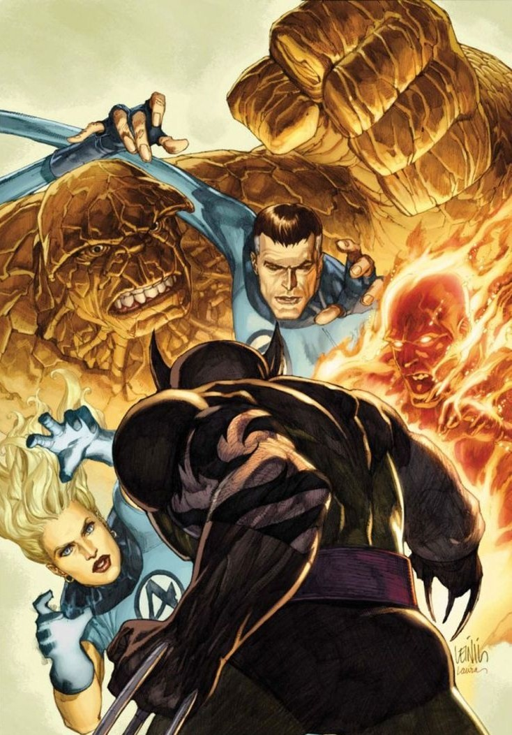 Leinil-Yu-comic-art-gallery-dark-wolverine-vs-fantastic-four
