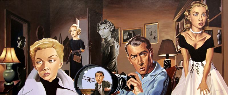 hitchcock_films(2)-justin-reed-movie-scene-painting