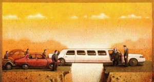 Satire and Social Commentary Paintings, Paul Kuczynski Art Gallery | Third Monk image 4
