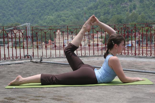 useful yoga pose - ARDHA DHANURASANA