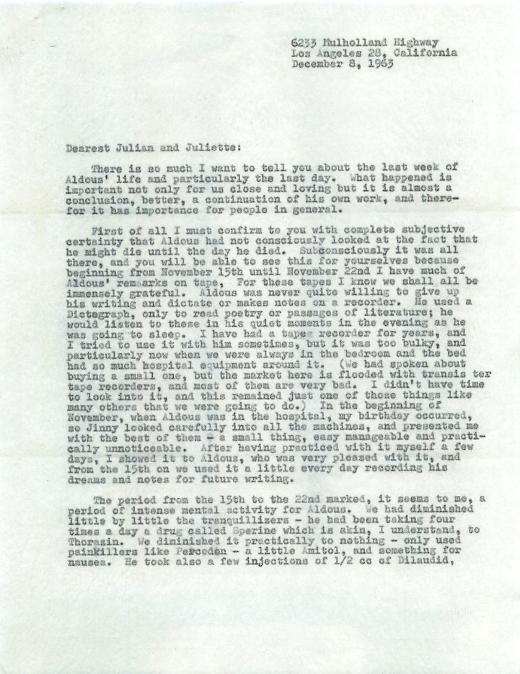 Aldous-Huxley-Letter-1
