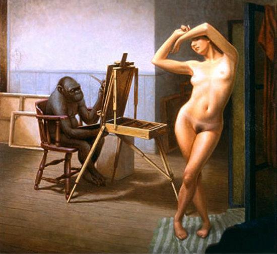 Ape & Model - Peter Zokosky