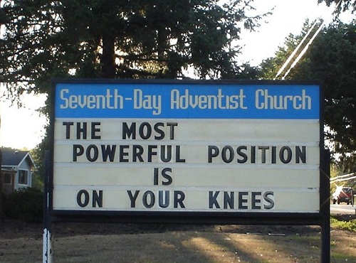 on your knees again