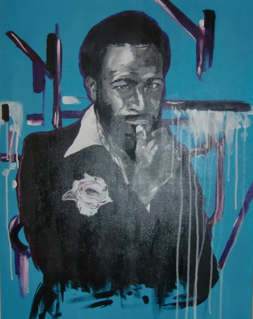 art-painting-Marvin Gaye