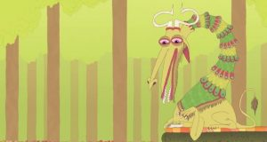 The Elephant's Garden, Psychedelic Animals Animation (Video)   Third Monk image 4