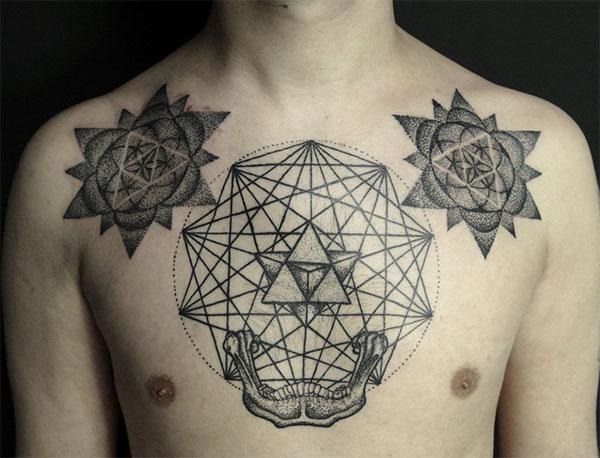 25 Trippy Geometric Tattoos Photo Gallery Third Monk