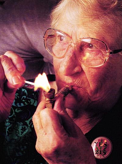 Pot Smoking Grandma