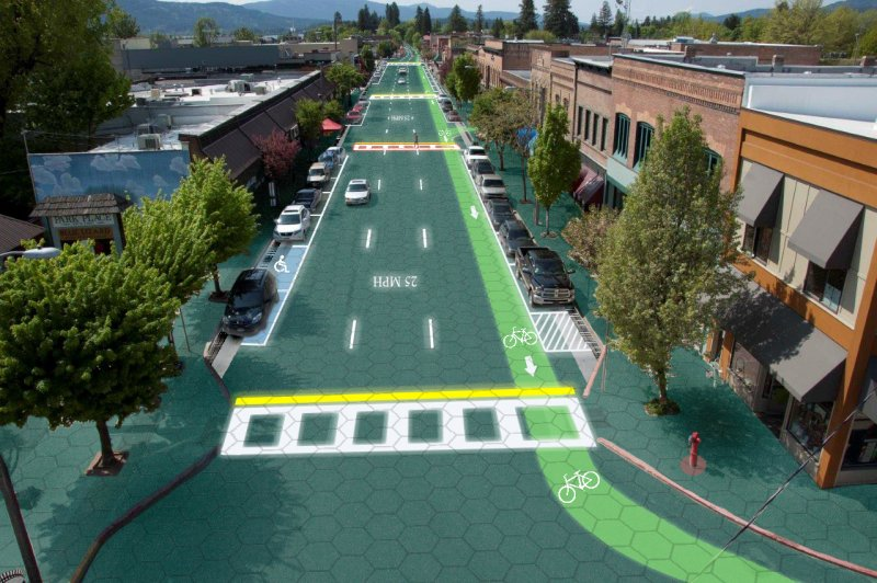 Downtown Sandpoint 2 - Solar Roadway