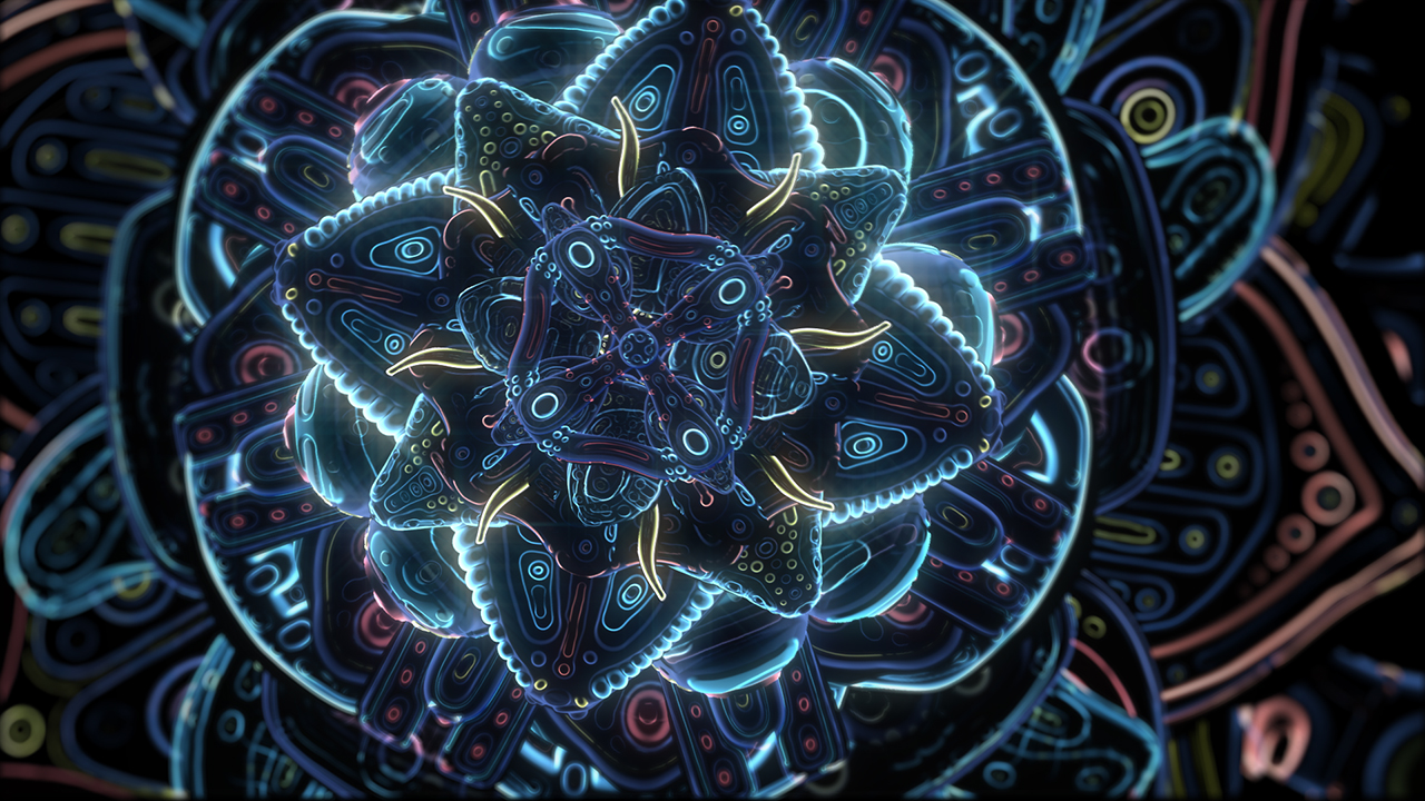 ben-ridgway-cosmic-flower-unfolding-Psychedelic Animation
