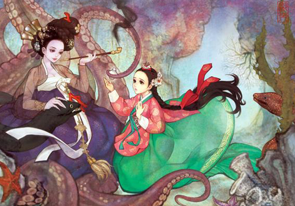 Shiny, pretty, happy things Asian-korean-disney-remake-illustration-na-young-wu-12