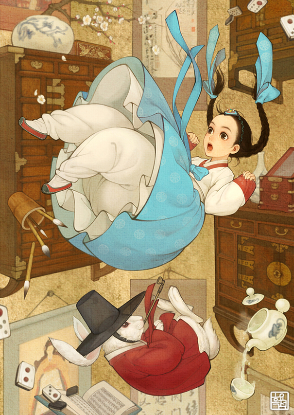 Shiny, pretty, happy things Asian-korean-disney-remake-illustration-na-young-wu-7