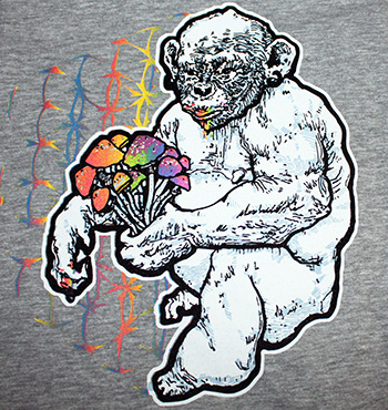 STONED APE THEORY SHROOMS T-SHIRT - GRAY