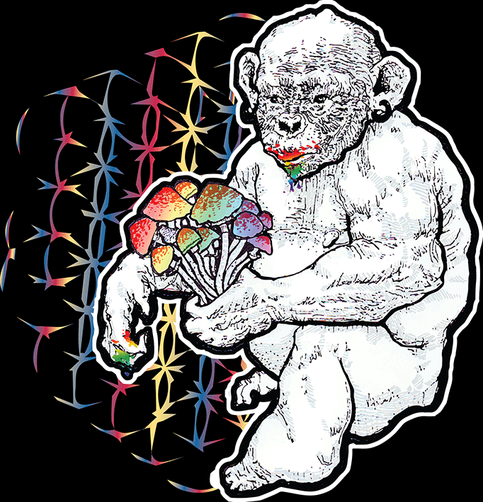 Stoned Ape Theory Shrooms T-Shirt