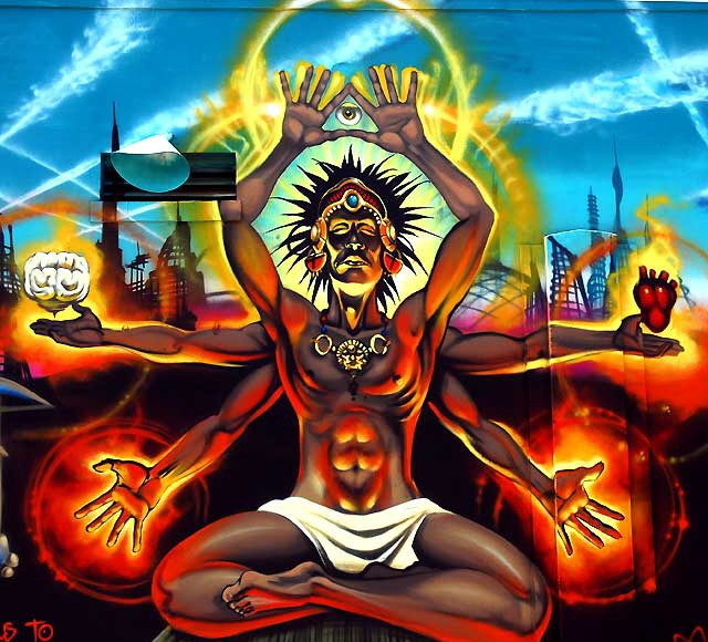 Mear One & The Gaslamp Killer - The Shaman, Street Art Stop Motion (Video)   Third Monk image 4