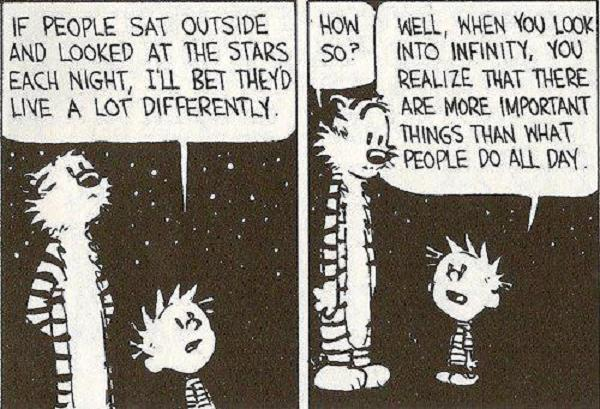 Calvin and Hobbes - Stars and Infinity (Comic Strip) | Third Monk