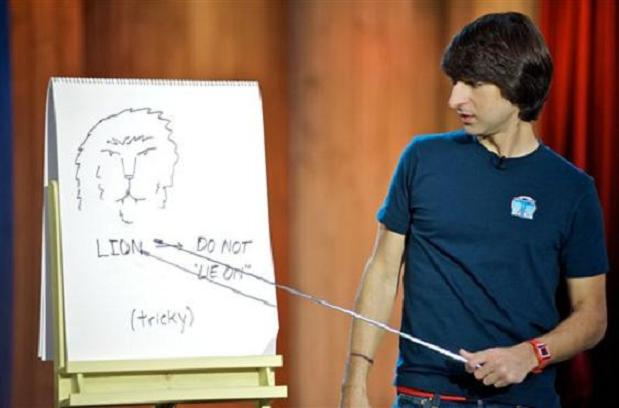 Demetri Martin - Jokes With a Guitar and Drawings (Video)   Third Monk