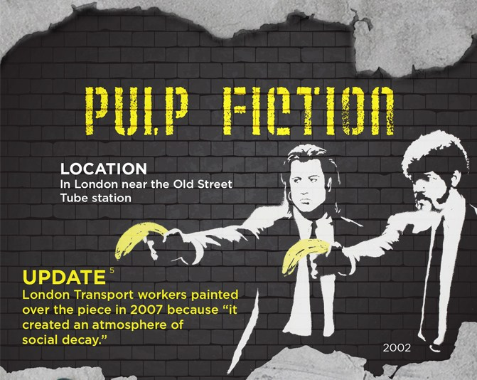 A History Of Banksy Graffiti Street Art (Infographic) | Third Monk image 1