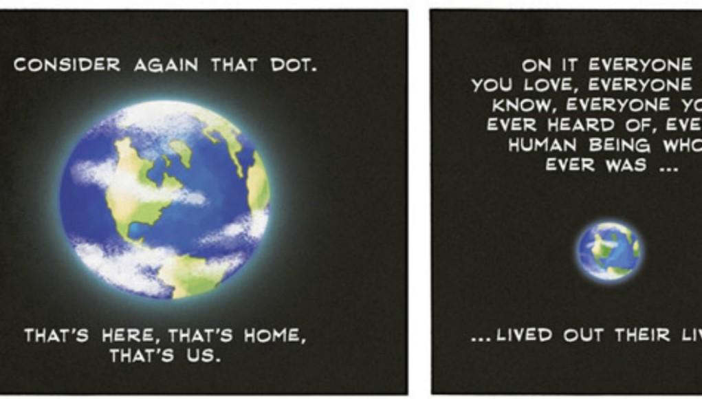 Carl Sagan - Pale Blue Dot (Comic Strip)   Third Monk image 2